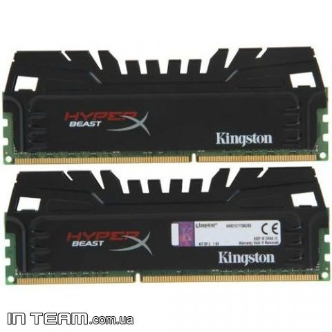 Kingston (KHX18C9T3K2/8X) HyperX Beast, 8Gb, DDR3-1866 (PC-14900 )(Kit of 2x4GB)