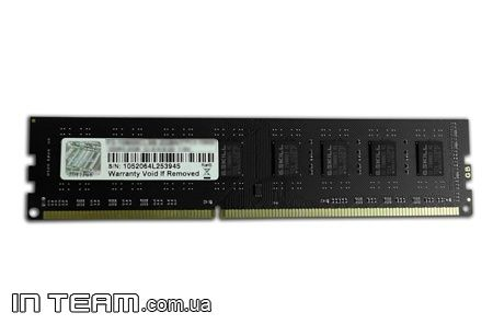 G.Skill (F3-10600CL9S-4GBNT), 4Gb, DDR3-1333 (PC3-10600)