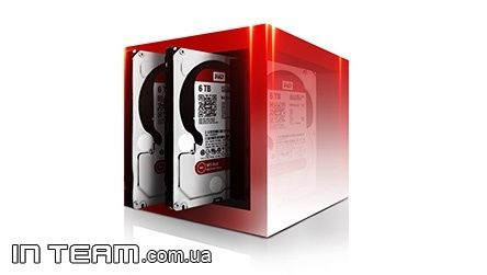 WD Red (WD60EFRX), 6Tb, 5400rpm, 64Mb, SATA III, 3.5""