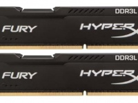 Kingston HyperX FURY Black (HX316LC10FBK2/8), 8Gb, DDR3L-1600 (PC3-12800) (Kit of 2x4Gb)