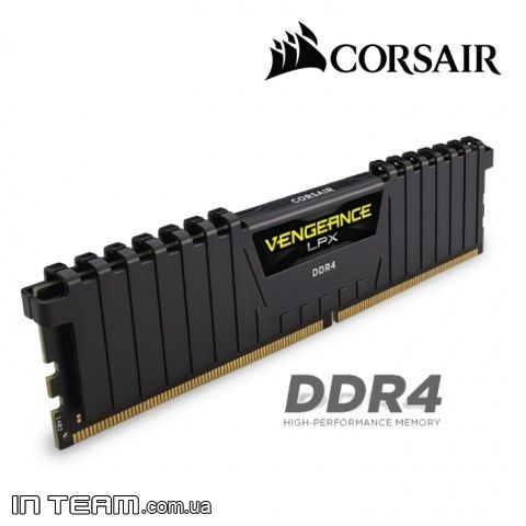 Corsair Vengeance LPX (CMK16GX4M2A2400C14) Black, 16Gb, DDR4-2400 (PC4-19200) (Kit of 2x8Gb)