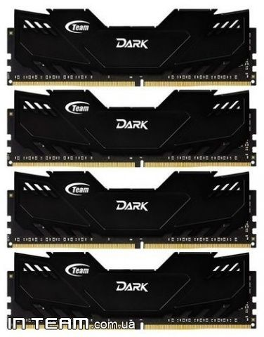 Team Dark Black (TDKED432G3000HC16AQC01), 32Gb(4x8GB), DDR4-3000 (PC4-24000) (Kit of 4x8Gb)