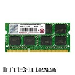 Transcend (JM1333KSN-4G), 4Gb, DDR3-1333 (PC10600)