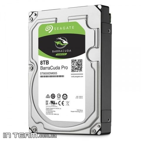 Seagate BarraCuda Pro HDD (ST8000DM005), 8TB, 7200rpm, 256MB, SATA III, 3.5""