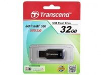Transcend JetFlash 360 (TS32GJF360), 32Gb, USB 2.0, Black