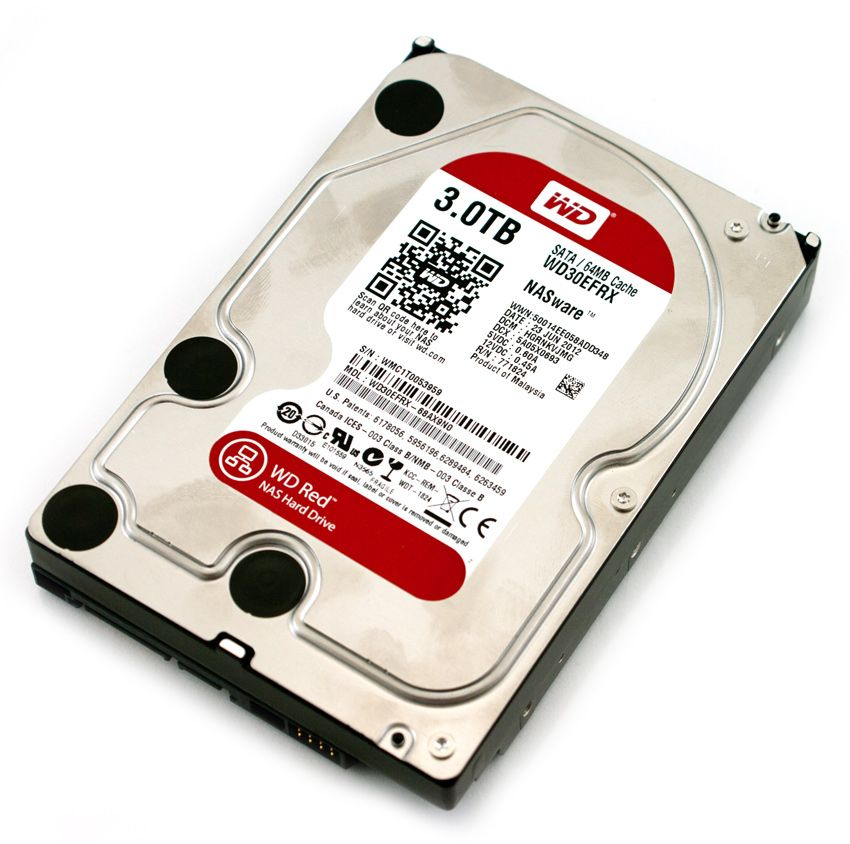 WD Red (WD30EFRX), 3Tb, 5400-7200 rpm, 64Mb, SATA III, 3.5""