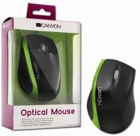 Canyon (CNR-MSO01NG), USB/PS2, Black-Green