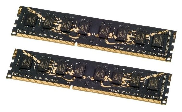 GeIL (GD38GB1600C11DC), 8Gb, DDR3-1600 (PC-12800)(Kit of 2x4Gb)