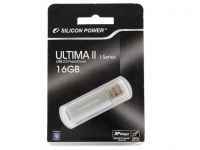 Silicon Power Ultima II (SP016GBUF2M01V1S), 16Gb, USB 2.0, Silver