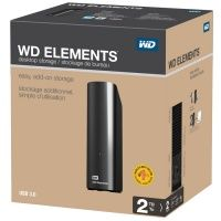 WD Elements Desktop (WDBWLG0020HBK-EESN), 2Tb, USB 3.0, 3.5""