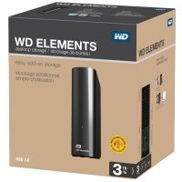 WD Elements Desktop (WDBWLG0030HBK-EESN), 3Tb, USB 3.0, 3.5""
