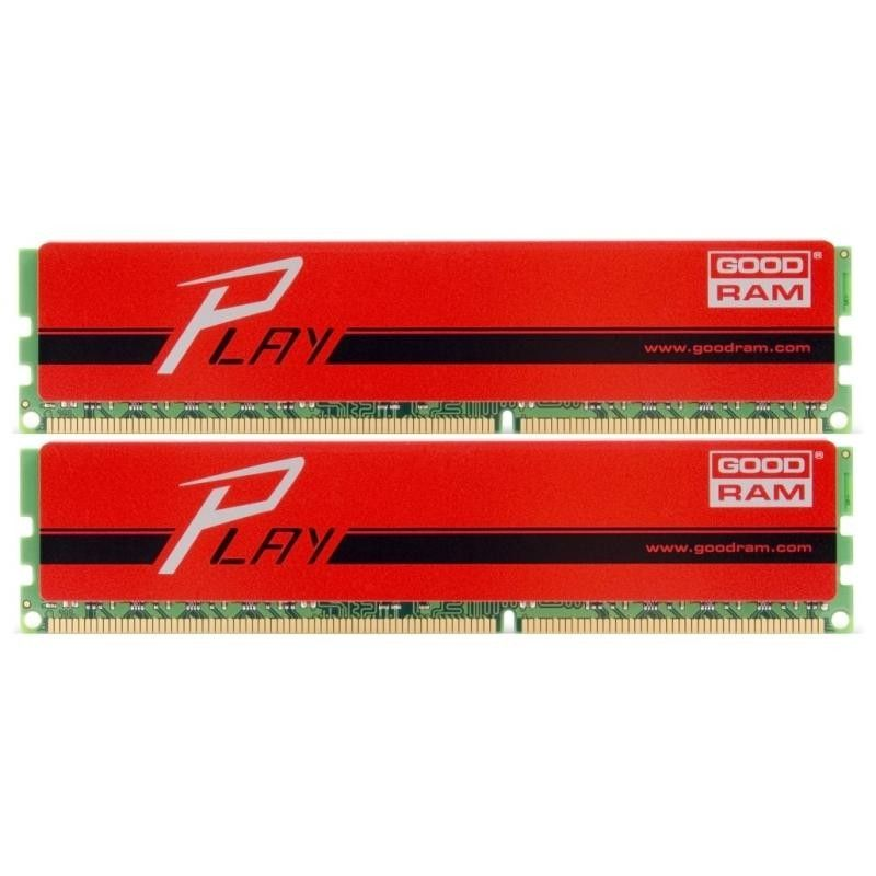 Goodram Play Red (GYR1600D364L9S/8GDC), 8Gb,DDR3-1600 (PC3-12800) (Kit of 2x4Gb)