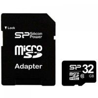 Silicon Power (SP032GBSTH010V10SP), 32GB, microSDHC, Class 10
