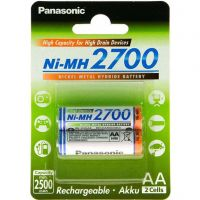 Panasonic High Capacity AA 2700 mAh 2BP (BK-3HGAE/2BE)