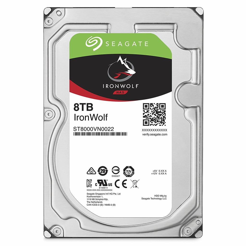 Seagate IronWolf (ST8000VN0022), 8Tb, 256Mb, 7200rpm, SATAIII, 3.5""