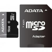 A-Data (AUSDH16GUICL10-RA1), 16GB, microSDHC (Class 10) SD-adapter