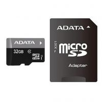 A-Data (AUSDH32GUICL10-RA1), 32GB, microSDHC (Class 10) SD-adapter