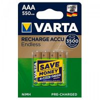Varta Rechargeable Accu Endless AAA 550 мАч BLI 4 Ni-MH (56663101404)