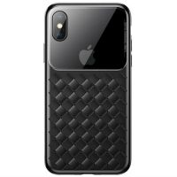 Baseus Apple iPhone XS Max Glass & Weaving Black (WIAPIPH65-BL01)