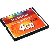 Transcend 133X (TS4GCF133), 4GB, Compact Flash