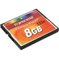 Transcend 133X (TS8GCF133), 8GB, Compact Flash